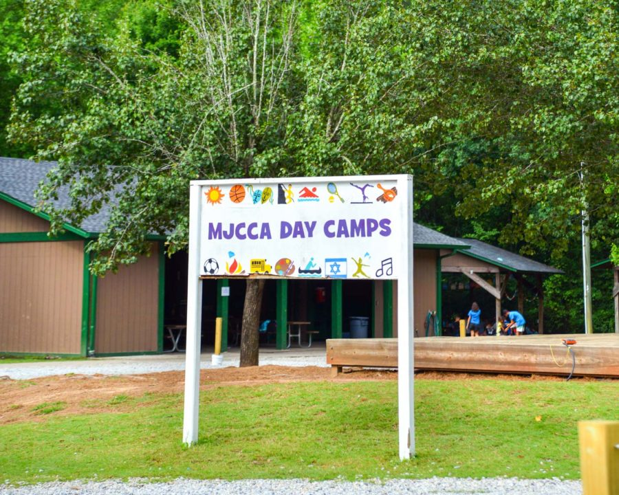 MJCCA Day Camps outdoor sign