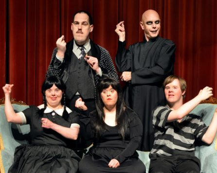Actors in the Addams Family in the Jerry's Habima Theater