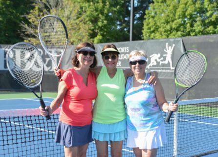 Women at adult tennis