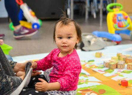Toddler in the discovery center