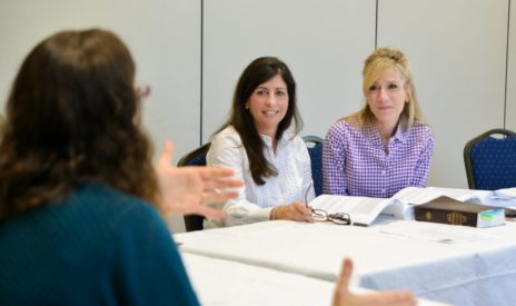 Women in a discussion group