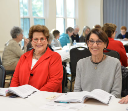 Two women at a Jewish Learning program