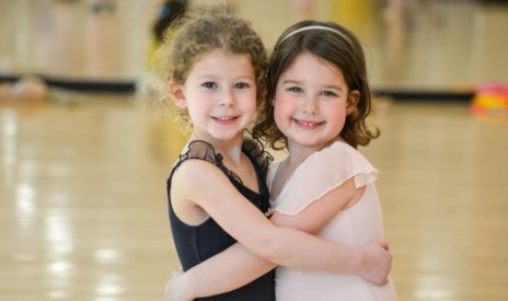 two girls at dance at Early Childhood Teens dance program