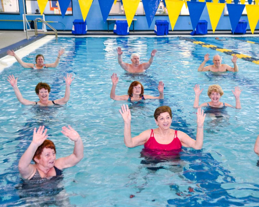 Seniors in a Water Fitness Class