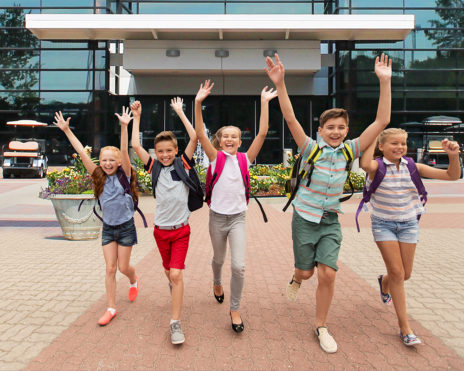 kids excited after school